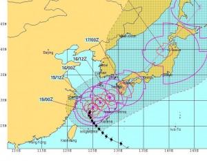 台風18号(TALIM)進路予想(2017.09.15 9時 JTWC)